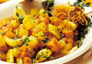 Cartofi cu morcovi si usturoi