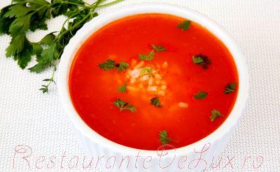 Reteta supa de rosii cu orez