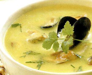 Supa crema de peste si midii