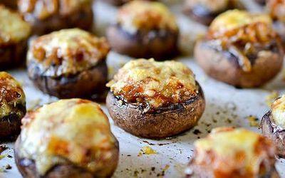 Ciuperci umplute cu orez si parmezan