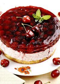 Tort_cu_cirese_branza_si_caramel