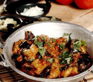 Mancare de vinete cu morcov si ardei gras