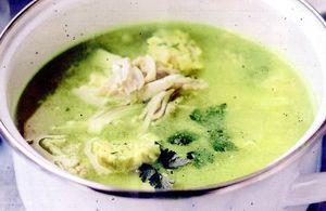 Supa de gris cu unt si patrunjel tocat