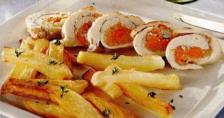 Rulada cu pui, morcov si telina
