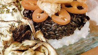 Creveti cu vinete si orez