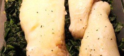 File de peste cu spanac