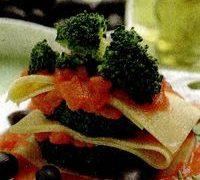 Turnulete de lasagna cu broccoli