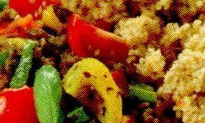 Cuscus cu legume si sos de soia