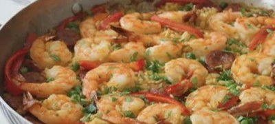 How_to_make_Baked_Sausage_and_Shrimp_Paella