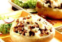 Cartofi gratinati cu carne tocata