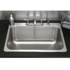 Best Kitchen Faucet Brand Custom Made Cabinets Residential Drop-in Laundry Sink - 24