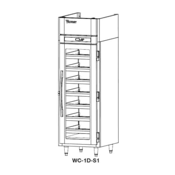 Refrigerated Wine Cooler, two sections, self-contained, 46