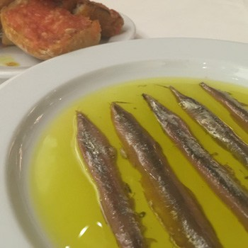 Anchovies from Costa Brava and tomato bread