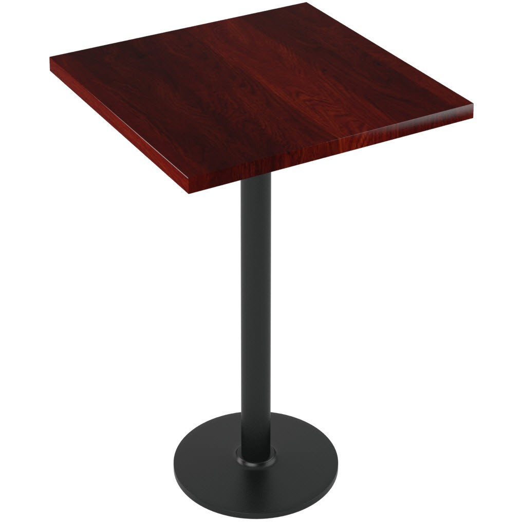 Premium Solid Wood Plank Restaurant Table  Bar Height