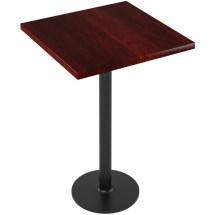 Premium Solid Wood Plank Restaurant Table - Bar Height