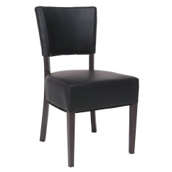Steel Vinyl Chair King Hours Brown Metal With Padded Back And Seat