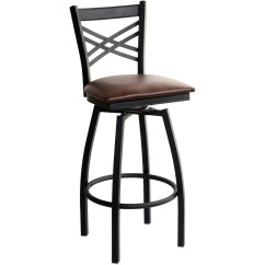 Swivel Bar Chairs Small Table And Set For Kitchen X Back Metal Stool