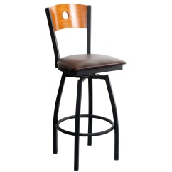 Swivel Bar Chairs Wedding Chair Covers Rental Calgary Interchangeable Back Metal Stool With A Circled