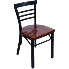 Metal Restaurant Chairs Folding Chair Caddy Rounded Ladder Back