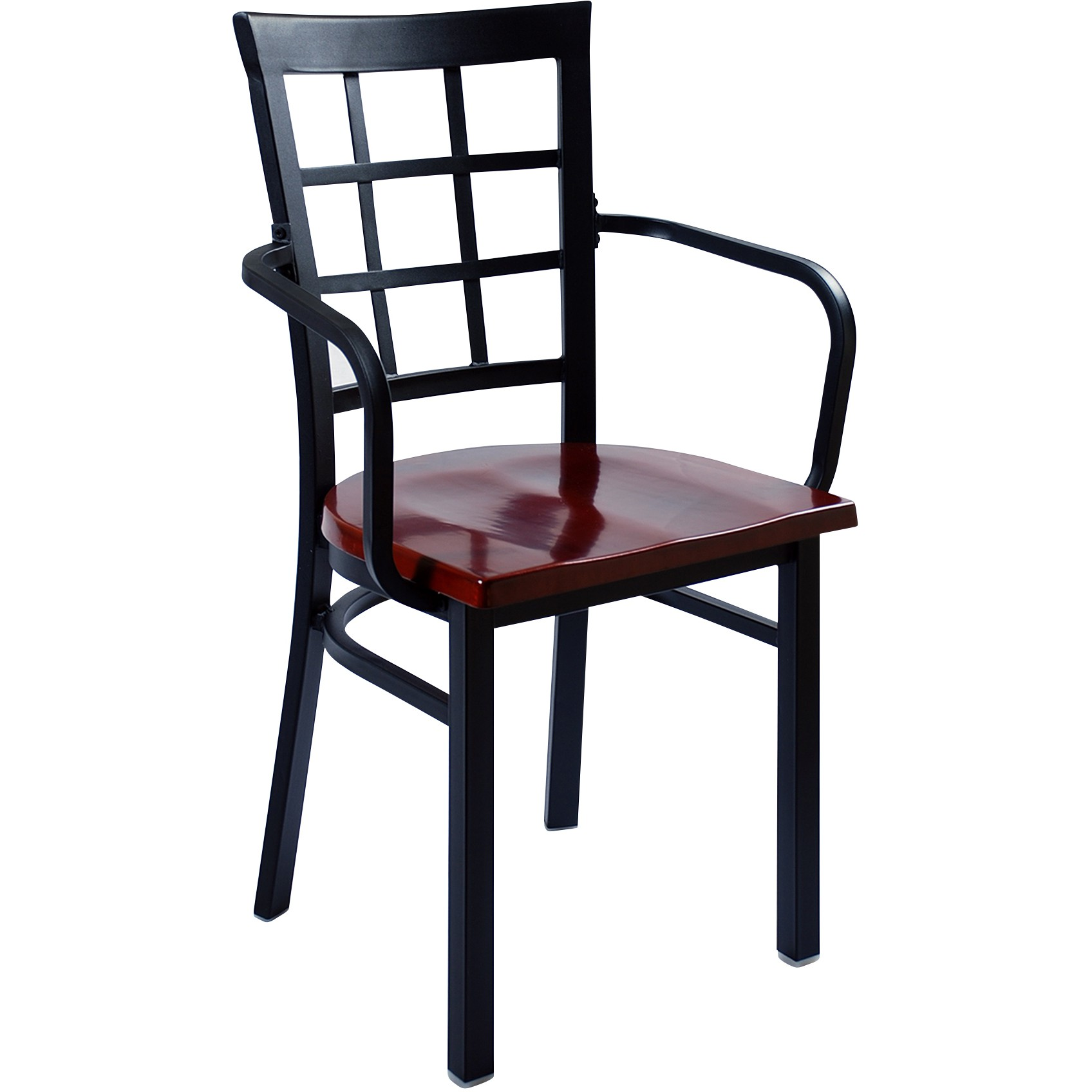 metal restaurant chairs ikea long chair window back with arms
