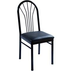 Metal Armchair Round Microfiber Swivel Chair Fanback Restaurant