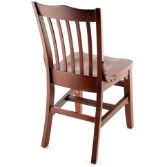 Wooden Restaurant Chairs With Arms Directors For Sale Premium Us Made School House Wood Chair Walnut Finish A Seat