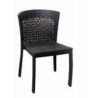 Aluminum Woven Rattan Patio Chair