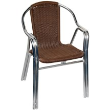 Aluminum And Rattan Patio Chair