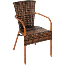 Faux Wicker Outdoor Chairs