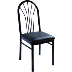 Metal Restaurant Chairs High Directors Chair Fanback