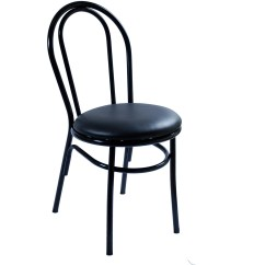Steel Vinyl Chair Diem Accessories Commercial Grade Arc Metal Restaurant Black Finish With A Red Seat