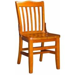 Wooden Restaurant Chairs Leather Chair Accessories Schoolhouse Wood Cherry Finish With A Seat