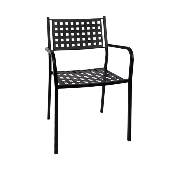 black metal patio chairs chair design with handle stack armrest matrix back