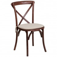 stackable restaurant chairs chair covers basingstoke for sale x back wood with cushioned seat