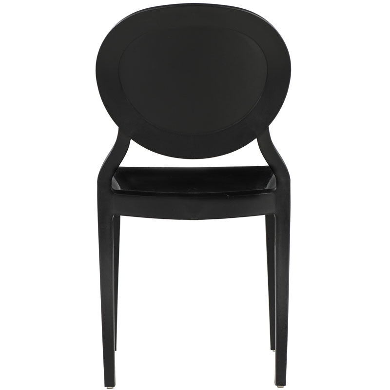 black resin chairs revolving lounge chair stacking rpp emma blk