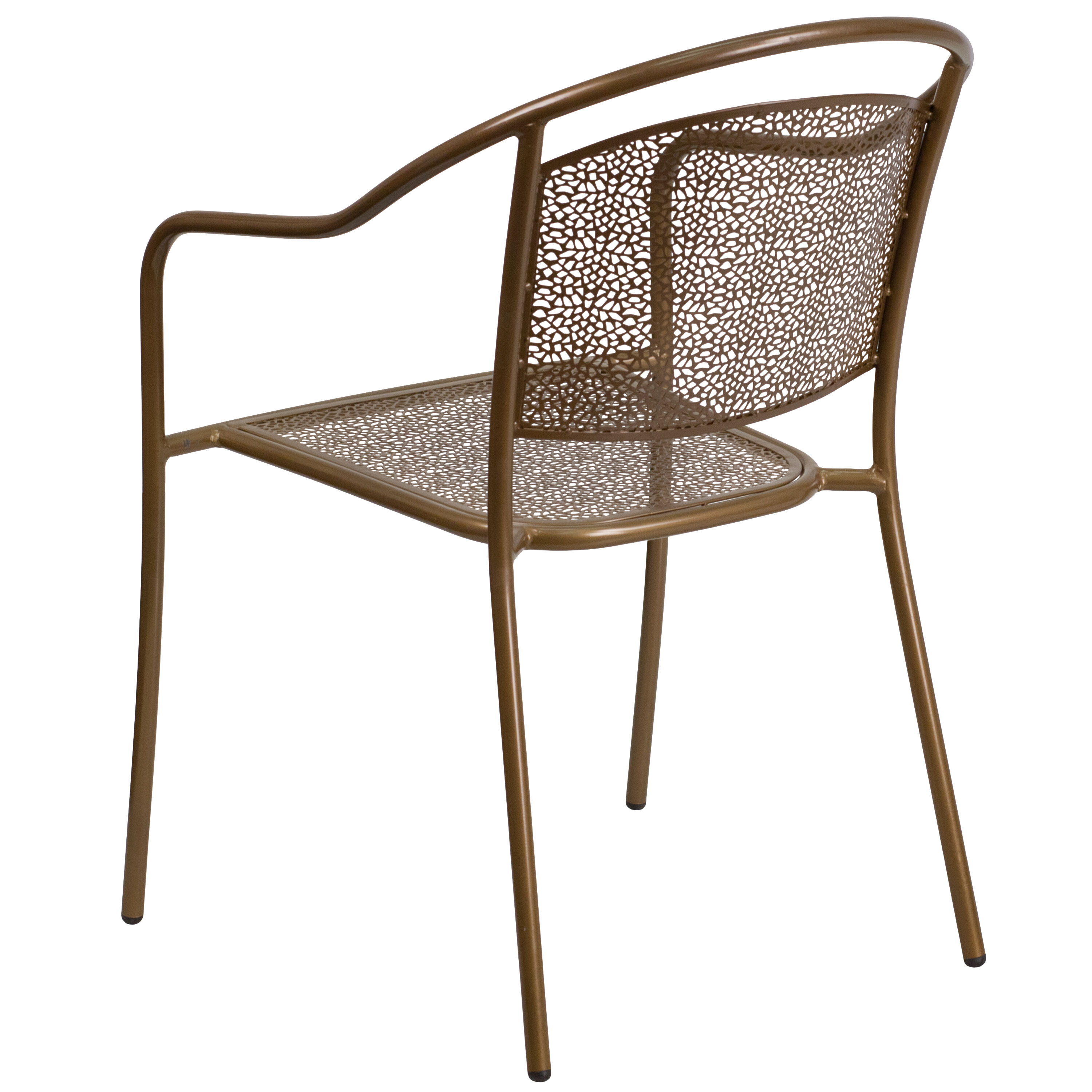 steel chair gold diy posture patio round back co 3 gd gg