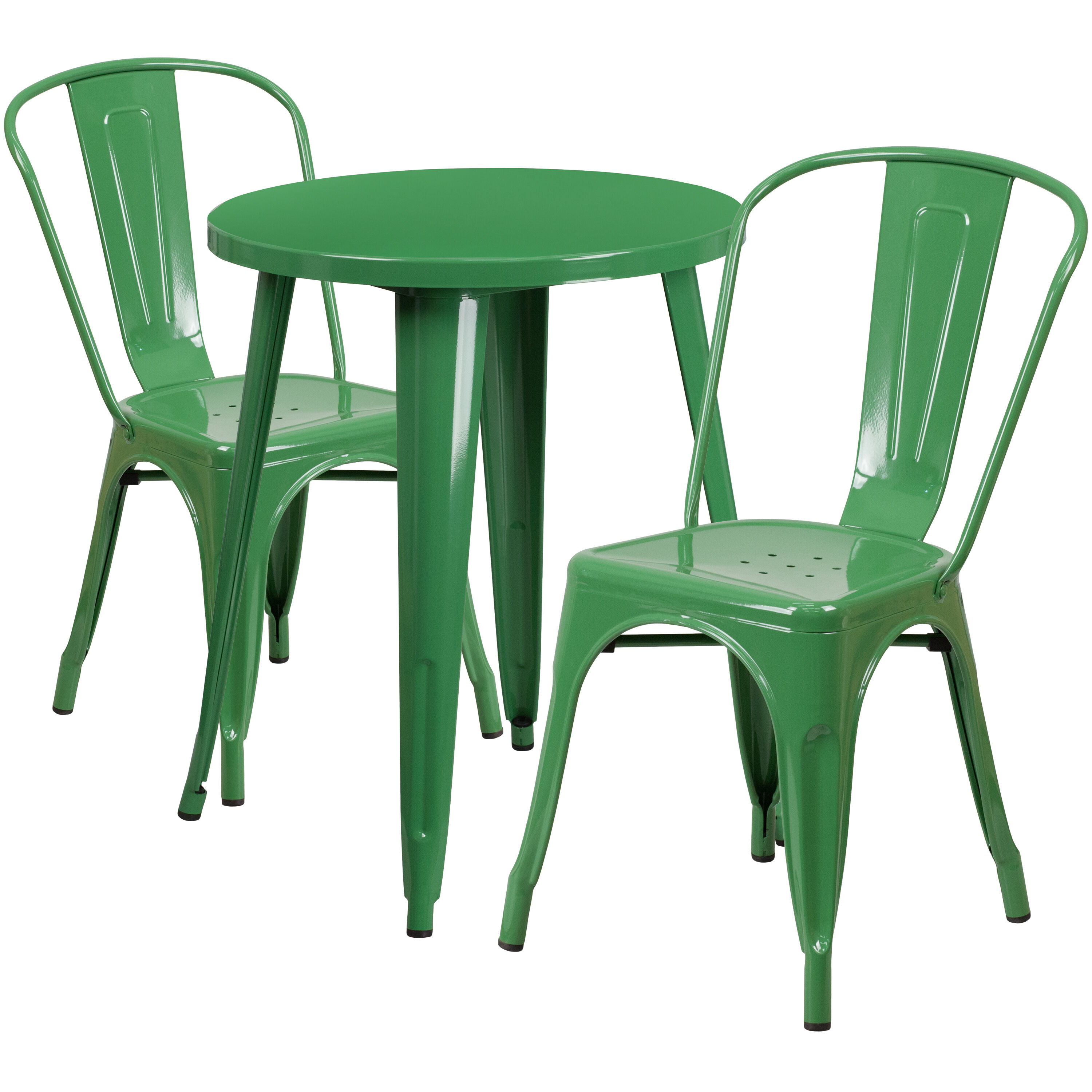 green metal bistro chairs how to make wooden beach 24rd table set ch 51080th 2 18cafe gn gg
