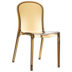 See Through Dining Chairs Ergonomic Quilting Chair Amber Stacking Isp033 Tamb