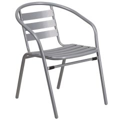 Restaurant Chairs For Less Bloom Fresco High Chair Replacement Seat Pad Silver W Aluminum Slats Tlh 017c Gg