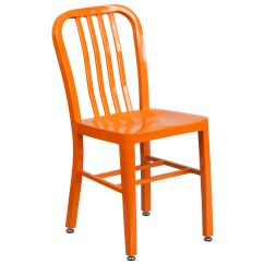Metal Outdoor Chair Back Pack Chairs Restaurantfurniture4less Patio And Furniture Orange Indoor