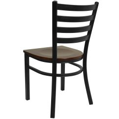 Restaurant Chairs For Less Club Chair Slipcovers Black Ladder Mah Seat Bfdh 6147ladmw Tdr