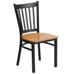 Metal Restaurant Chairs Folding Directors Chair With Side Table Restaurantfurniture4less Black Vertical Back Natural Wood Seat