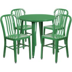 Green Metal Bistro Chairs Monogrammed Beach Chair 30rd Set Ch 51090th 4 18vrt Gn Gg