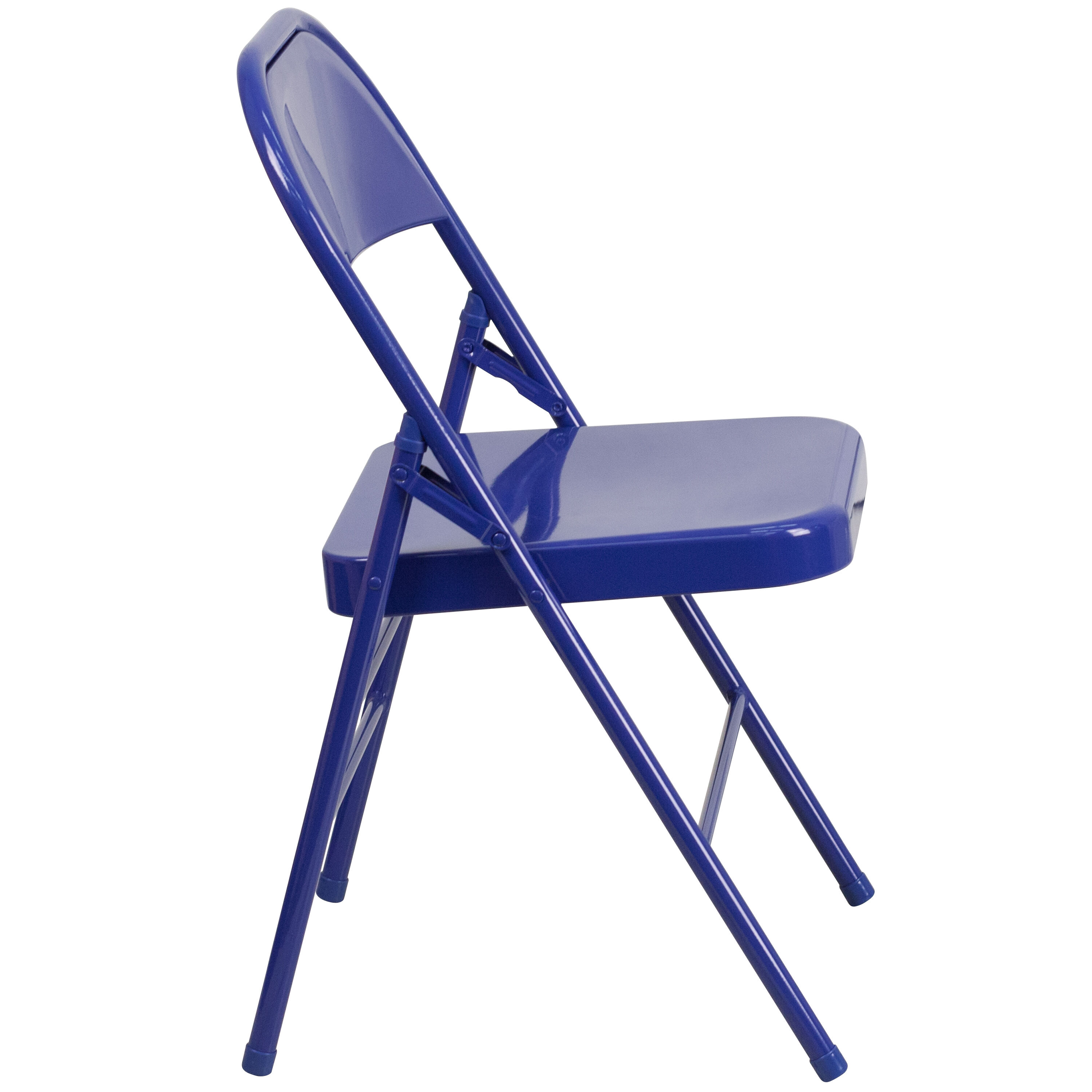 blue metal folding chairs counter high table and chair sets cobalt hf3 gg