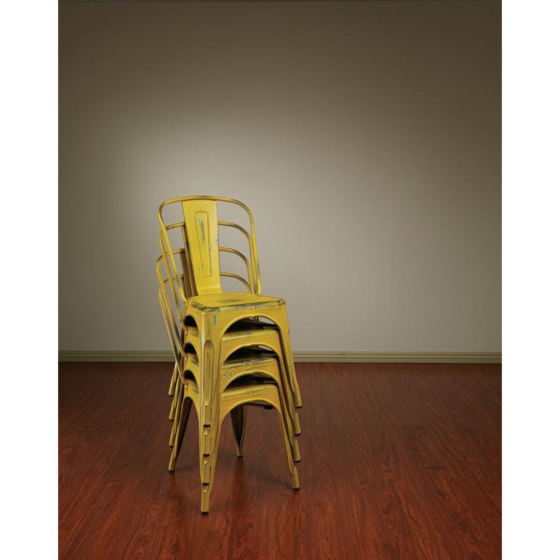 Osp Design Bristow Stackable Armless Metal Chair - Set Of