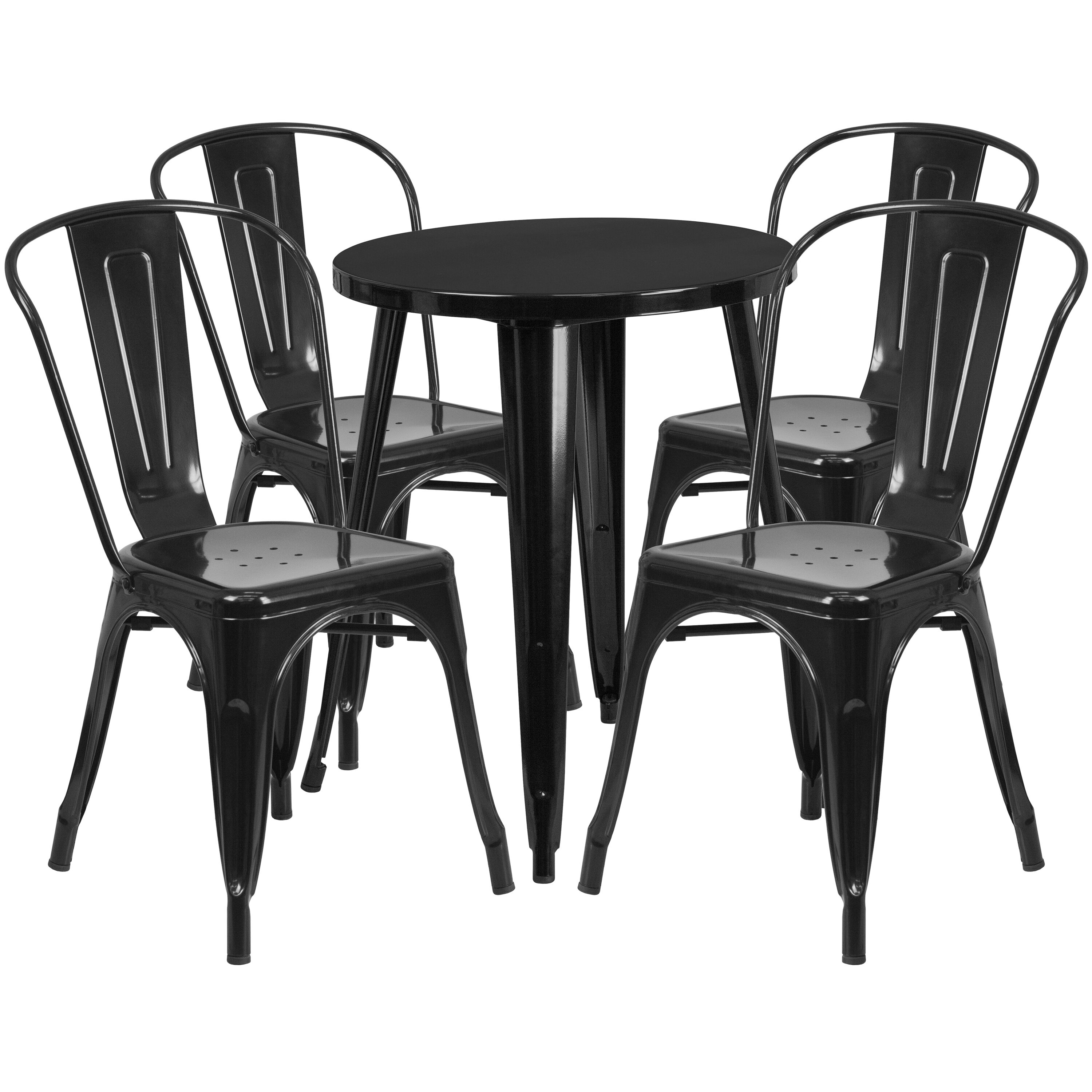 cafe chairs metal black chair covers target 24rd table set ch 51080th 4 18cafe bk gg restaurantfurniture4less com