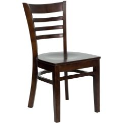 Wooden Restaurant Chairs Swivel Gaming Chair Restaurantfurniture4less Wood Walnut Finished Ladder Back