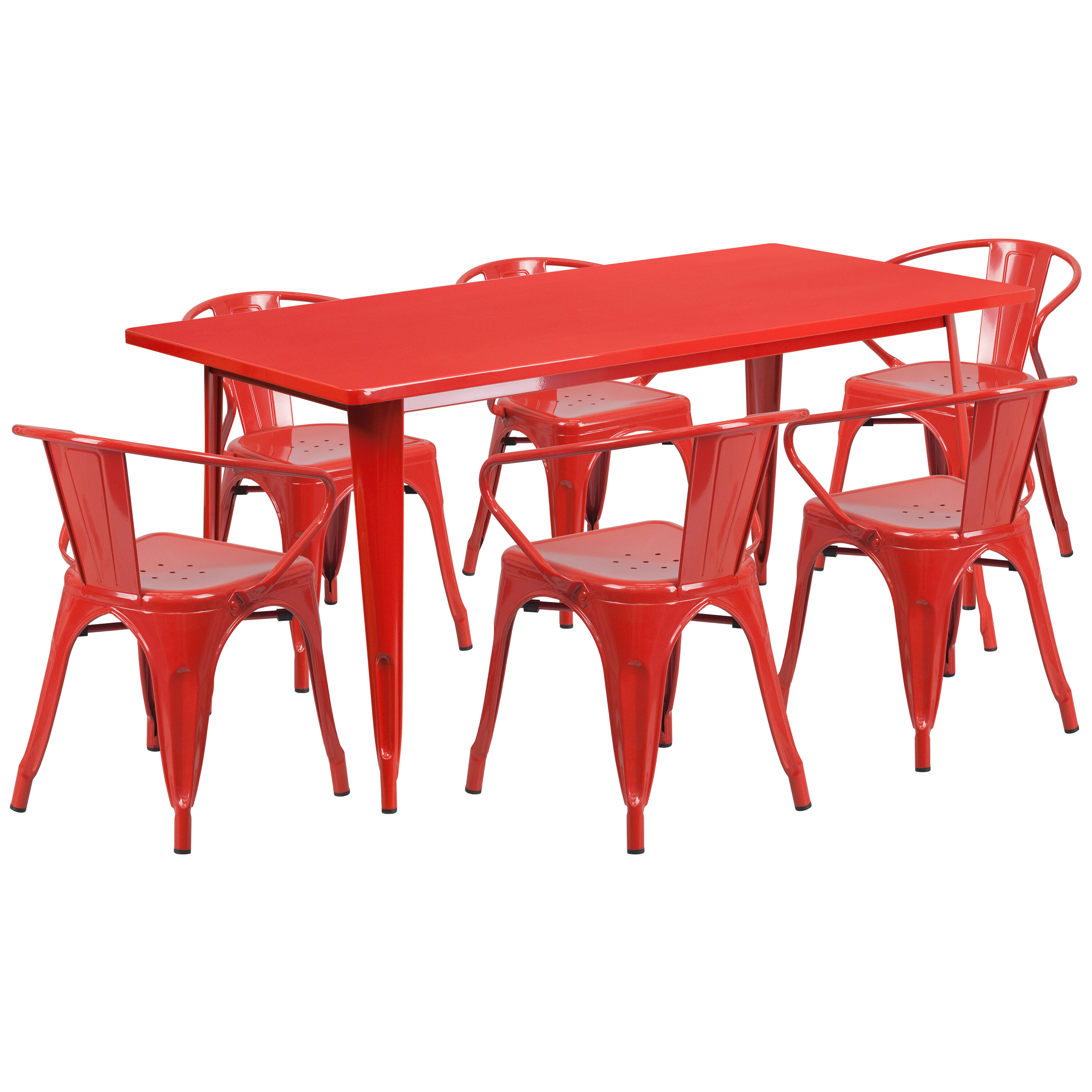 rectangular rubber chair glides gothic revival chairs 31 5x63 red metal table set et ct005 6 70 gg images