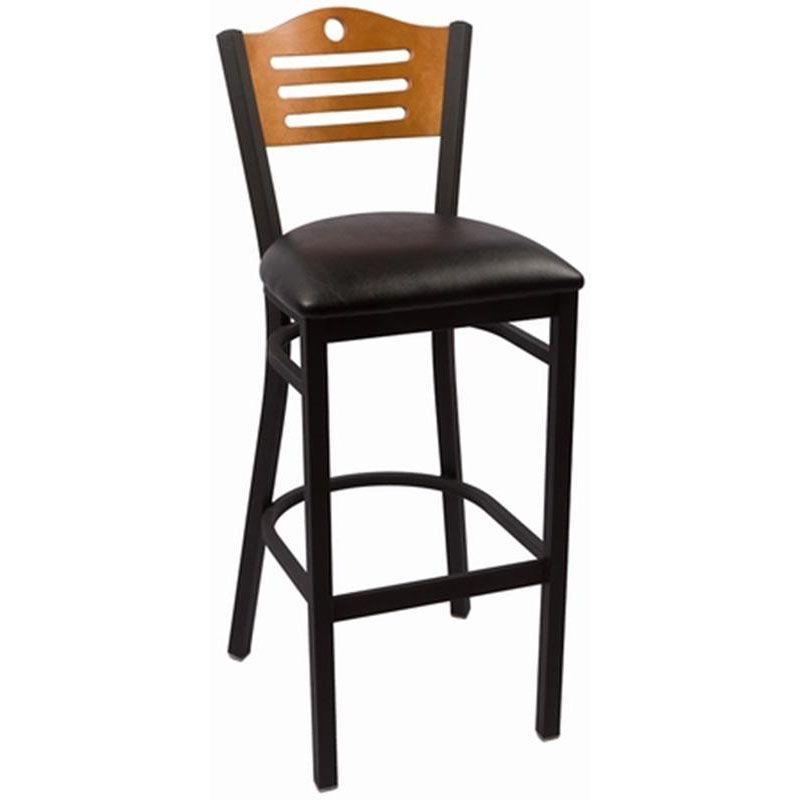 steel vinyl chair cloth high pattern eagle cherry armless barstool seat our series wood back with frame and is
