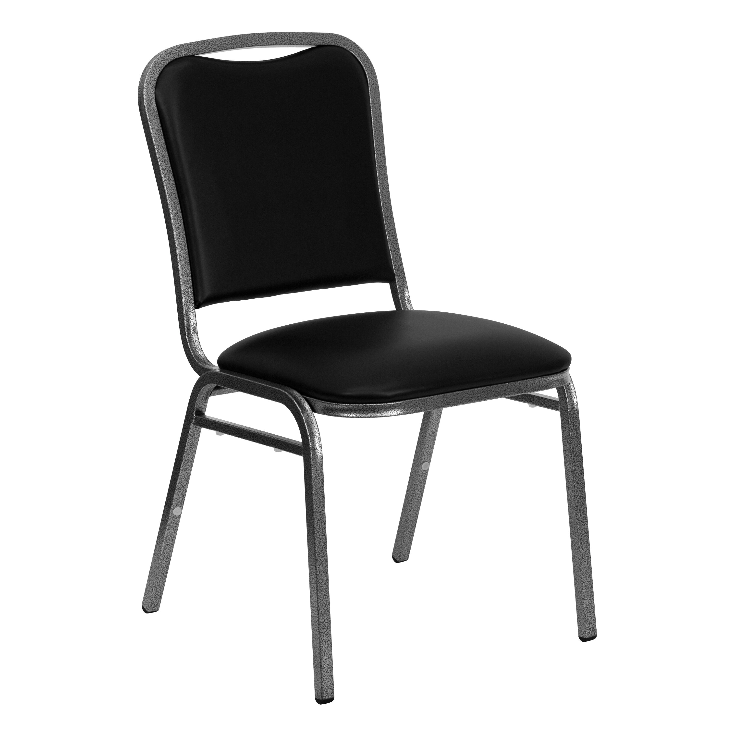 Our HERCULES Series Stacking Banquet Chair in Black Vinyl